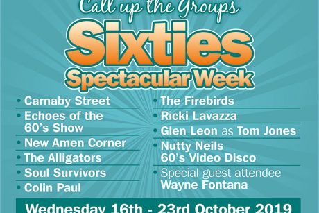 Call up the Groups Sixties Spectacular Week 2019