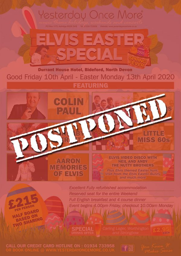 Postponed Elvis Easter 2020