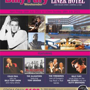 Yesterday Once More Billy Fury 2021 Weekend Flyer