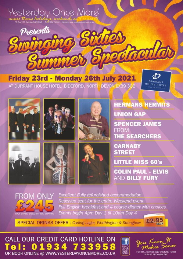 Yesterday Once More Swinging Sixties Summer Spectacular 2021