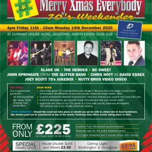 Yesterday Once More Merry Xmas Everybody 70's Weekender 2020