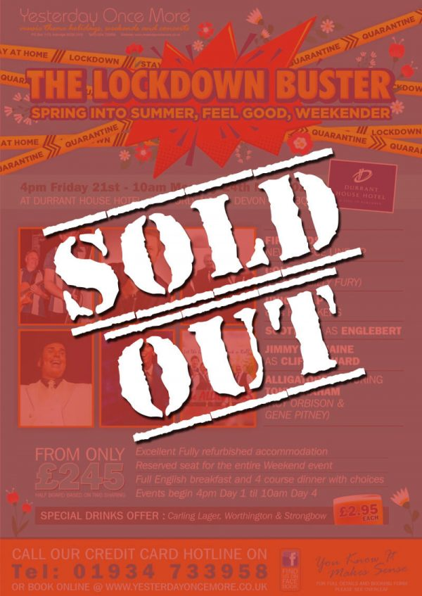 Yesterday Once More Lockdown Buster 2021 Sold Out